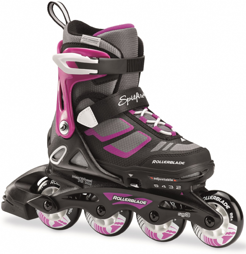 Rollerblade 2018 Spitfire Adjustable Girls Inline Skates